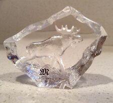 Moose Mats Jonasson Full Lead Crystal Glass Sculpture Swedon Signed NEW