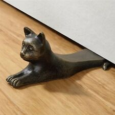 Stretching Cat Doorstop Cast Iron Kitty Statue Door Stop Home Accent Hardware