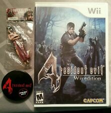 Resident Evil 4 -- Wii Edition (Nintendo Wii, 2007) w/Ada Wong Mini Figure + Pin
