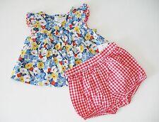 Ralph Lauren Baby Girls Floral Top & Short Set Blue Multi Sz 3M - NWT