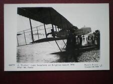 POSTCARD AIR A PUSHER TYPE SEA PLANE AT BRIGHTON BEACH 1914
