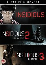 INSIDIOUS Trilogy 1 2 3 Movie Film Collection Horror New Triple Pack DVD UK R2