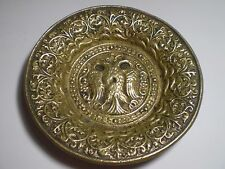RARE!!! UNIQUE BRONZE ANTIQUE BYZANTINE GREEK ART PLATE -DOUBLE HEADED EAGLE!!