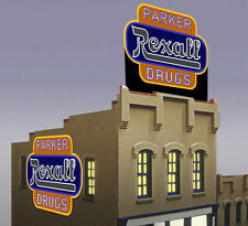 Rexall Drugs Animated Billboard Sign for N HO Scale Miller 7582