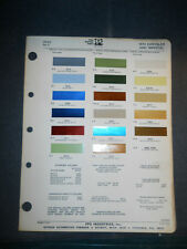 1973 CHRYSLER  DIZLER PPG COLOR CHIP PAINT SAMPLES  CHRYSLER MODELS IMPERIAL