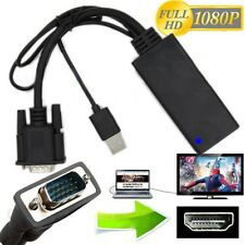 1080P Vga A Hdmi + Audio Video Cable Adaptador Convertidor De Usb Laptop PC DVD HD TV