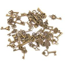 50pcs Antique Bronze Assorted Skeleton Key Charms Pendant DIY Jewelry Making