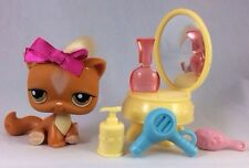 Orange Cat 226 Hair Luxury Salon Vanity Spa Ginger Kitty Littlest Pet Shop Lot