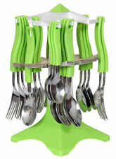 JONY 25-PICS SWASTIK CUTLERY SET WITH REVOLVING STAND SPOON, FORK SET