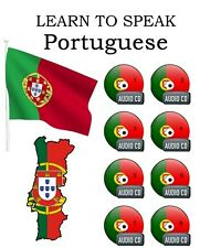 LEARN HOW TO SPEAK PORTUGUESE COMPLETE LANGUAGE COURSE TUTORIALS GUIDE - 8 CD