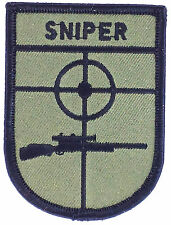 SNIPER ARMY AIRSOFT INSIGNIA MILITARY IRON ON GLUE PATCHES PATCH EMBROIDED