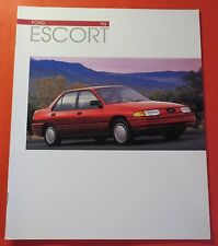1993 FORD ESCORT  SHOWROOM SALES BROCHURE..18 PAGES