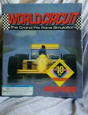 Grand Prix Race Simulation Microprose WORLD CIRCUIT PC Game (1992) RARE IBM
