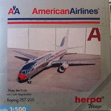 "AA American Airlines 1:500 Boeing 757-200 ""Lightning Bolt"" rare discontinued"