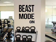 Motivational Quotes Beast Mode On Wall Decal Gym Fitness Sport Vinyl Sticker 25