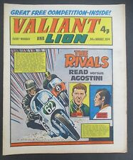 VALIANT AND LION August 24, 1974 with Motor Bike Racing Cover, Read vs. Agostini