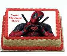 Deadpool Cake topper edible image icing REAL FONDANT birthday party occasion
