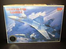RUSSIAN SUKHOI SU-27UB FLANKER C JET AIRCRAFT MODEL KIT 1:48 SCALE ACADEMY #2140