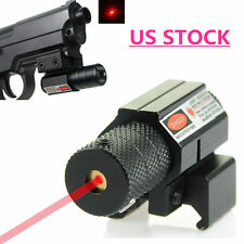 US Rifle Rail Mount Pistol Compact Red Dot Laser Sight Scope11mm/20mm Picatinny
