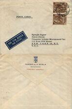 REPUBBLICA - Coppia 100 L Turrita (747) - Busta Posta Aerea Milano 14.4.1958