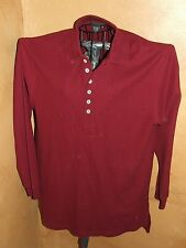 J.Peterman mens small long sleeved red polo shirt new without tags