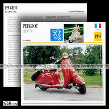 #030.09 Scooter PEUGEOT 125 S 57 C 1958 (S57-C S57C) Fiche Moto Motorcycle Card