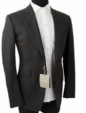 NWT! TOM FORD Jacket / Blazer Solid Gray 100% Wool Size 48 EU 38 US