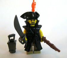 Custom Lego PIRATE CAPTAIN Minifigure with Unique Weapons/Accessories