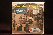 "Television Shows Viewmaster 1964 ""Wagon Train, The Virginian"" w/3 Reels & Book"
