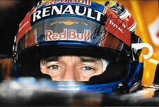 MARK WEBBER firmato 12x8, F1 RED BULL RB9, CASCO Portrait 2013