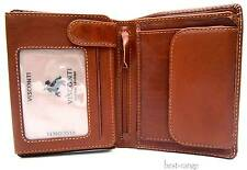 Mens Wallet Leather Visconti Brown Tan Top Quality New in Gift Box VCN16