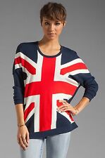 TORN by RONNY KOBO Anthea Union Jack Sweater Red White Blue Sz S $248 NWT