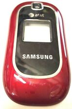 Samsung A237 Cell Phone Front Housing Case Plastic Cover At&T Logo Red OEM