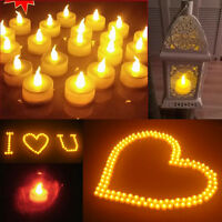 100pcs New LED Flickering Flashing Flameless Tea Light Candle for Wedding Party