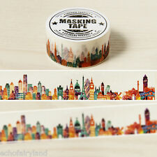 City Street Washi Tape DIY Paper Sticky Scrapbooking Adhesive Sticker Decor