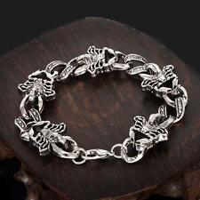 Cool Men's Stainless Steel Jewelry Scorpion Chain Bracelet 8 inches