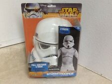 "Disney Stormtrooper Full Costume & Mask ""Star Wars"" Fits Size 8-10 (2-Pieces)"