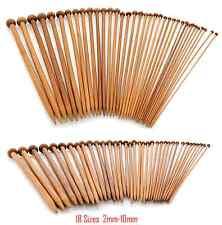 """10"""" 36pcs Single Pointed Bamboo Knitting Needles Set 2 - 10mm Carbonized & Craft"""