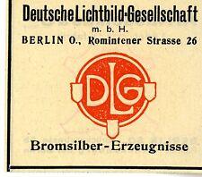 DEUTSCHE LICHTBILD-GESELLSCHAFT Berlin Trademark 1908