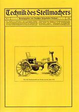 Technique du vice allèrent Nº 4/1924 actionneur faiseurs wagner wagenbau wagnerei reprint