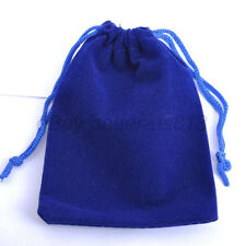 lot of VELVET Jewellery Drawstring Gift Bag POUCHES Many Colors To Choose