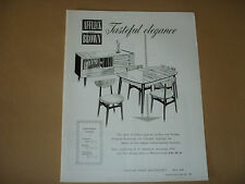 1960'S FURNITURE ADVERT - AFFLECK & BROWN MANCHESTER