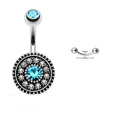 Lovely Shield Surgical Steel Belly Button Navel Ring Dangle Body Piercing Jewel