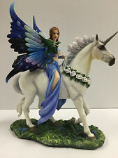 Anne Stokes Realm of Enchantment Statue Fantasy Gothic Fairy Unicorn figure