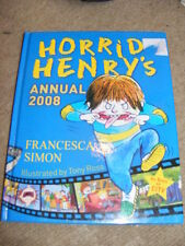 Horrid Henry's Annual 2008 HB as seen on TV puzzles, stories etc