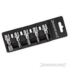 5 Piece Male Torx Socket Set 3/8″ Drive Trx 5pce T40, T45, T47, T50 and T60 Star