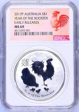 2017 P Australia Silver Lunar Year of the Rooster NGC MS 69 1 oz Coin ER Perfect