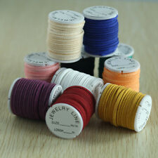 10 Rolls PU Leather Cord Thread String Wire for Bead Necklace Bracelet Mix Color