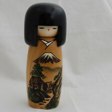 Japanese Kokeshi Doll - Authentic - Handmade in Japan - Mountain Fuji