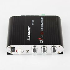 ELEGIANT Mini 200W 12V Hi-Fi Car Stereo Amplifier Power Channel Audio Heavy - -